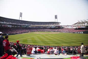広島カープの本拠地のマツダスタジアム