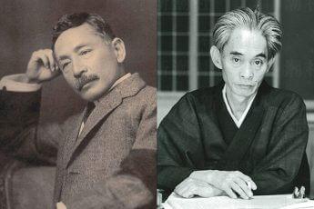 左から夏目漱石(Wikimedia Commonsより)、川端康成