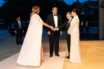天皇皇后両陛下とトランプ大統領夫妻