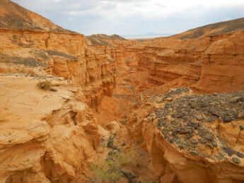 ゴビ砂漠のネメグト盆地