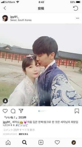 日韓カップルインスタグラマー1