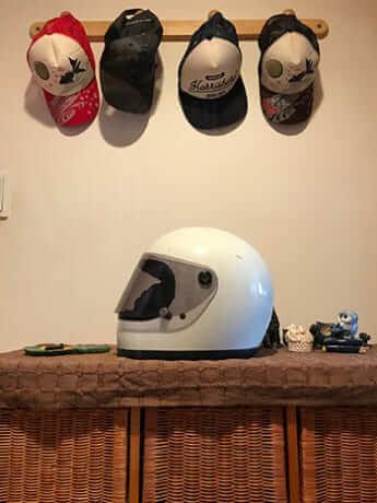 遺品となったヘルメット