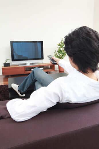 テレビの視聴時間が長いと健康によくない?