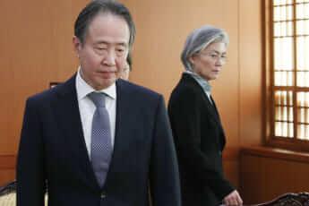 使用不可 康外相、冨田駐韓国大使