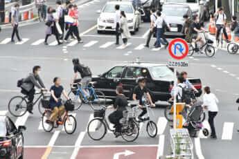 横断歩道自転車走行