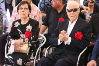 李登輝・台湾元総統と妻(撮影・前城均)