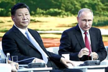 中国の習近平国家主席とロシアのプーチン大統領