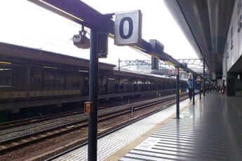 「京都駅」0番線ホーム