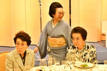 加藤睦子夫人、安倍洋子夫人