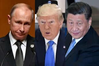 トランプ、プーチン、習近平
