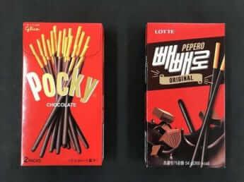 ペペロと呼ばれる韓国版ポッキー