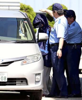 山形地検に身柄を送られる加藤紘貴容疑者(2019年6月14日)