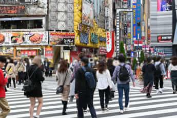 コロナだが混雑する新宿(2020年10月25日)