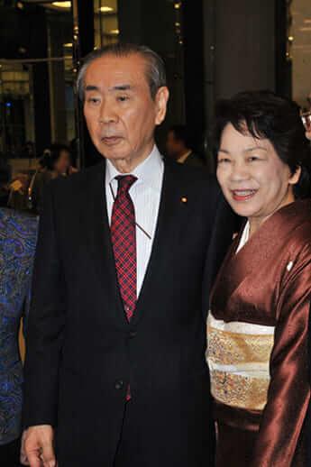 羽田孜元首相、綏子夫妻