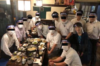 NHKフェイスシールド飲み会