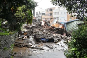 熱海市を襲った土石流