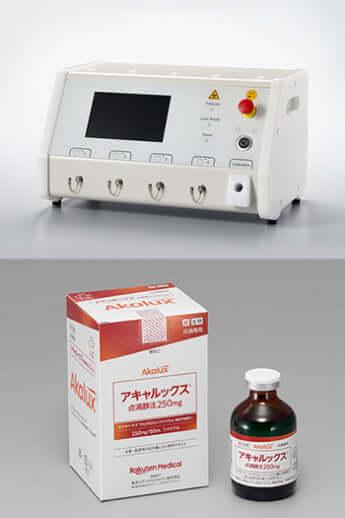 医療機器BioBlade、新薬アキャルックス