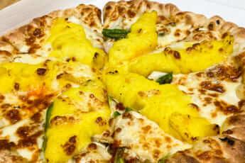 女性から圧倒的支持を得ているサツマイモピザ